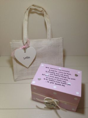 Shabby Personalised Chic Gift For The Bride From Bridesmaid Maid Matron Honour